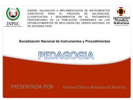Socialización Nacional de Instrumentos y