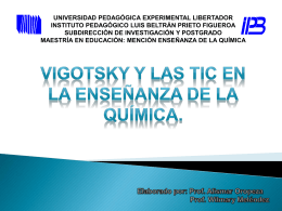 Teoría Histórico * Cultural de Lev Vigotsky (1896