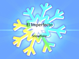 El Imperfecto - claybaughspanish