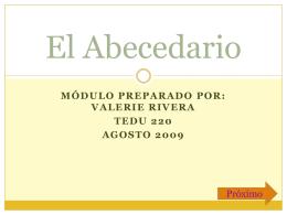 El Abecedario modulo 23001ter121yaaaaaa
