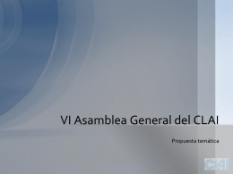 Power Point presentando la VI ASamblea