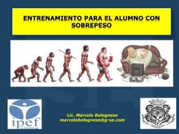 Entrenamiento PARA EL ALUMNO CON SOBREPESO - G-SE