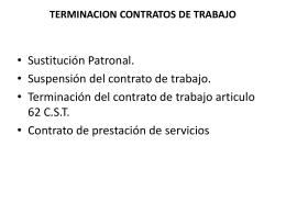 terminacion contratos de trabajo