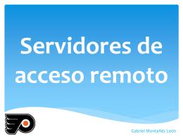 Servidores de acceso remoto - Seguridad y Alta Disponibilidad