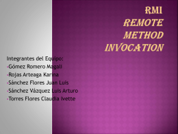 RMI Remote Method Invocation