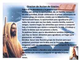 Presentation Accion de Gracias