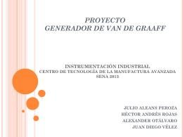 PROYECTO GENERADOR DE VAN DE GRAAFF