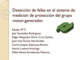 Detección de fallas en el sistema de medición de