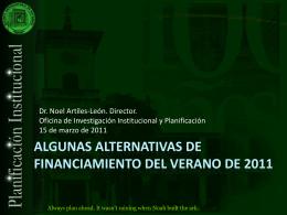 AlternativasVerano2011_SenadoAcadémico_110309
