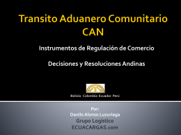 Transito Aduanero Comunitario CAN