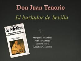 Don Juan Tenorio El Burlador de Sevilla Tirso de Molina
