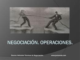 Negociación - Procesos, Estrategias y Operaciones.