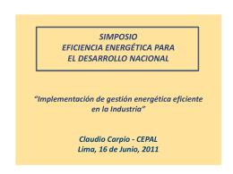 Implementación de gestión Energética Eficiente en la industria