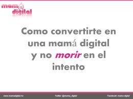 Presentacion - Mamá Digital