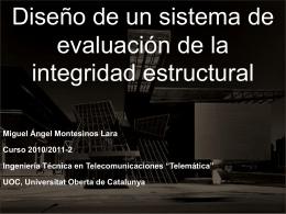 Diseño de un sistema de evaluación de la integridad estructural