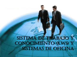 Sistema de trabajo y conocimiento (KWS) y sistemas de oficina