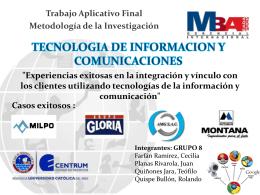 TECNOLOGIA DE INFORMACION Y COMUNICACIONES