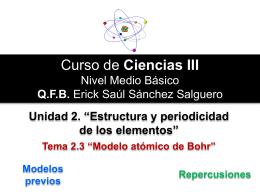 Modelo Atómico - Quimica3humboldt