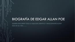 Biografía de edgar allan poe (2942464)