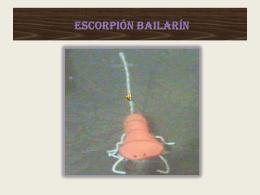 ESCORPIÓN BAILARÍN