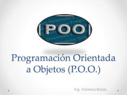 Programación Orientada a Objetos - Vanessa Borjas