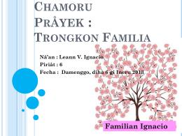 Chamoru Trongkon Familia - Leann Ignacio`s E
