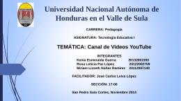 PREENTACION DE TECNOLOGIA, YOUTUBE