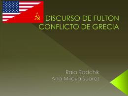 DISCURSO DE FULTON CONFLICTO DE GRECIA