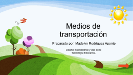Medios de transportacion