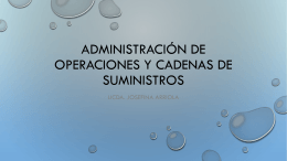 Administración de operaciones y cadenas de suministros
