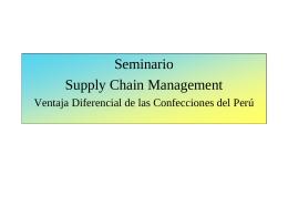 SCM Generalidades, tendencias y ventajas en su aplicación