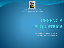 URGENCIA PSIQUIATRICA - WordPress.com