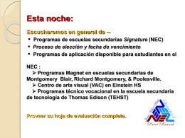 NEC - Montgomery County Public Schools