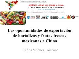 Las oportunidades de exportación de hortalizas y - red alc