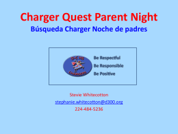 Charger Pride Charger Quest Parent Night