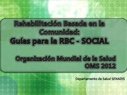Componente Social - Guías para la RBC 2012