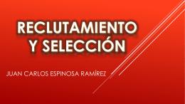 RECLUTAMIENTO Y SELECCIÓN