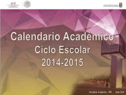 Calendario Académico Ciclo Escolar 2014-2015