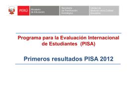 PISA 2012: Lectura