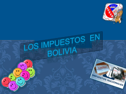 IMPUESTOS DE BOLIVIA