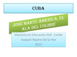 José Martí, América, el ala del colibrí