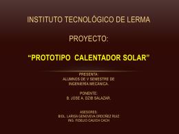 prototipo calentador solar