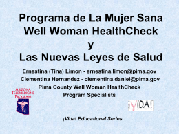 El Programa de Well Woman HealthCheck