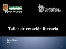 Taller de creación literaria - Gobierno del Estado de Tlaxcala