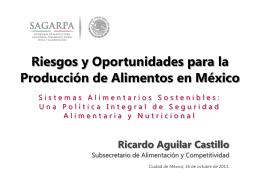 Riesgos y oportunidades para la producción de alimentos en México