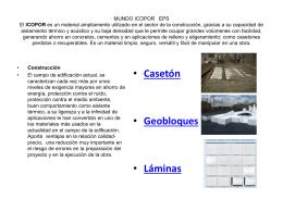 El ICOPOR es un material ampliamente utilizado en el sector de la