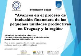 Seminario-Taller - Observatorio de Inclusión Financiera