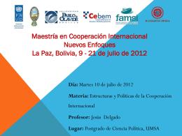 Estructuras y Políticas de la Cooperación Internacional