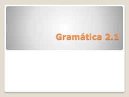 Gramática 2.1