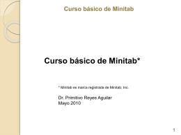 Curso básico de Minitab - Contacto: 55-52-17-49-12